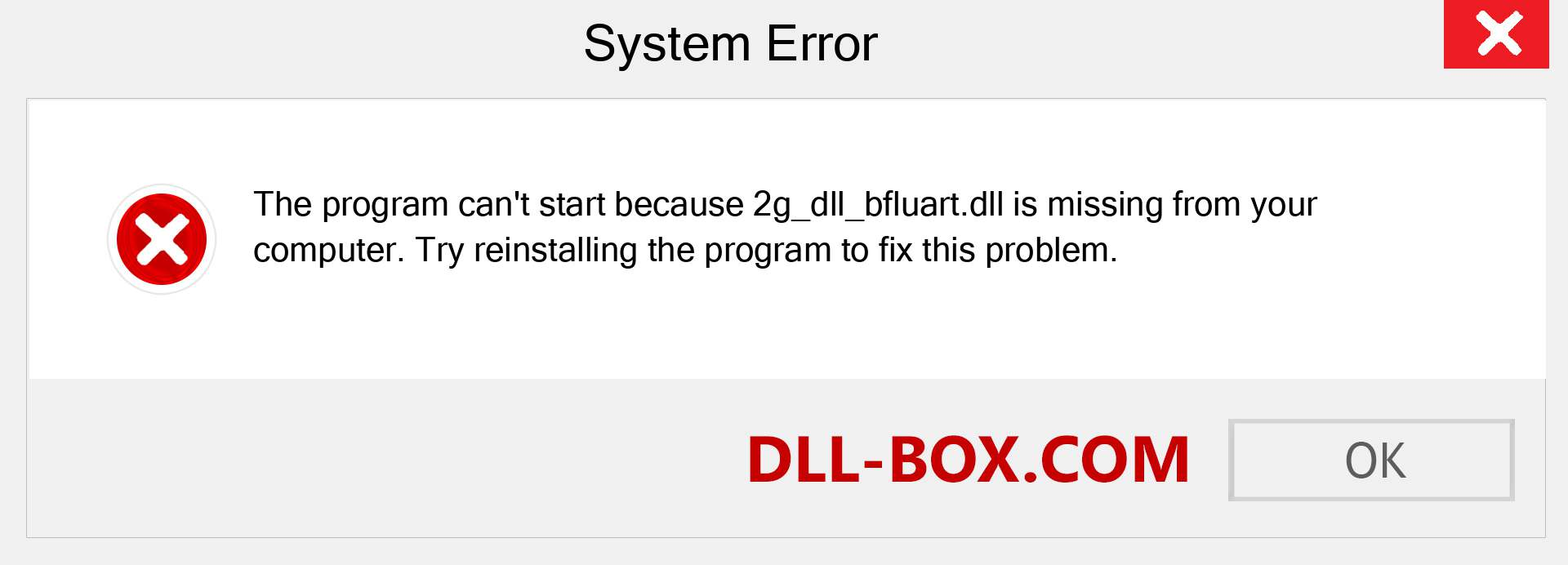 2g_dll_bfluart.dll file is missing?. Download for Windows 7, 8, 10 - Fix  2g_dll_bfluart dll Missing Error on Windows, photos, images